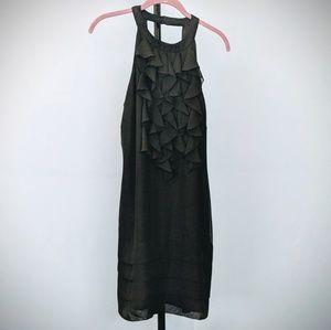 NWOT Classy ruffled black cocktail dress